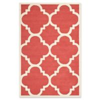 Safavieh Cambridge 5-Foot x 8-Foot Lynn Wool Rug in Rust/Ivory