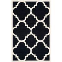 Safavieh Cambridge 5-Foot x 8-Foot Lynn Wool Rug in Black/Ivory