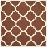 Safavieh Cambridge 6-Foot x 6-Foot Lynn Wool Rug in Dark Brown/Ivory