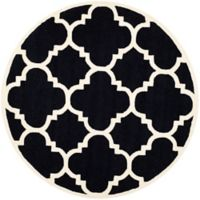 Safavieh Cambridge 6-Foot x 6-Foot Lynn Wool Rug in Black/Ivory