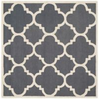 Safavieh Cambridge 6-Foot x 6-Foot Lynn Wool Rug in Dark Grey/Ivory