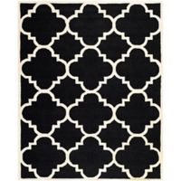 Safavieh Cambridge 9-Foot x 12-Foot Lynn Wool Rug in Black/Ivory