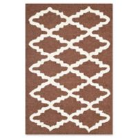 Safavieh Cambridge 2-Foot x 3-Foot Jada Wool Rug in Dark Brown/Ivory