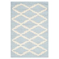 Safavieh Cambridge 2-Foot x 3-Foot Jada Wool Rug in Light Blue/Ivory