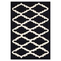 Safavieh Cambridge 2-Foot x 3-Foot Jada Wool Rug in Black/Ivory