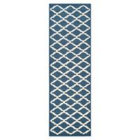 Safavieh Cambridge 2-Foot 6-Inch x 8-Foot Jada Wool Rug in Navy /Ivory