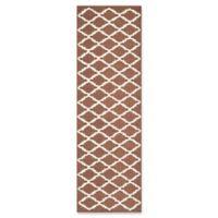 Safavieh Cambridge 2-Foot 6-Inch x 8-Foot Jada Wool Rug in Dark Brown/Ivory