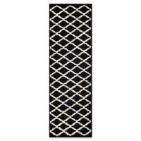 Safavieh Cambridge 2-Foot 6-Inch x 8-Foot Jada Wool Rug in Black/Ivory