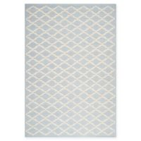 Safavieh Cambridge 3-Foot x 5-Foot Jada Wool Rug in Light Blue/Ivory