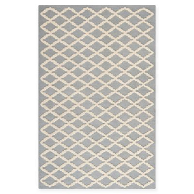 Safavieh Cambridge 3 Foot X 5 Foot Jada Wool Rug In Silver/Ivory