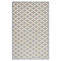 Safavieh Cambridge 3-Foot x 5-Foot Jada Wool Rug in Silver/Ivory