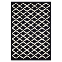 Safavieh Cambridge 4-Foot x 6-Foot Jada Wool Rug in Black/Ivory
