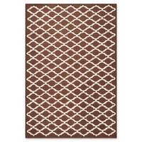 Safavieh Cambridge 4-Foot x 6-Foot Jada Wool Rug in Dark Brown/Ivory
