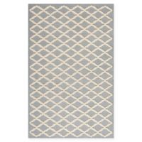 Safavieh Cambridge 5-Foot x 8-Foot Jada Wool Rug in Silver/Ivory