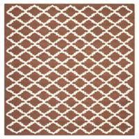 Safavieh Cambridge 6-Foot x 6-Foot Jada Wool Rug in Dark Brown/Ivory