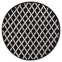 Safavieh Cambridge 6-Foot x 6-Foot Jada Wool Rug in Black/Ivory