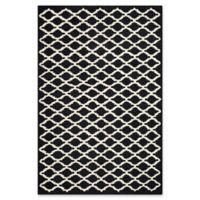 Safavieh Cambridge 6-Foot x 9-Foot Jada Wool Rug in Black/Ivory