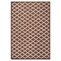 Safavieh Cambridge 6-Foot x 9-Foot Jada Wool Rug in Dark Brown/Ivory