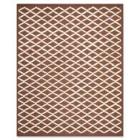 Safavieh Cambridge 8-Foot x 10-Foot Jada Wool Rug in Dark Brown/Ivory