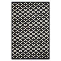 Safavieh Cambridge 8-Foot x 10-Foot Jada Wool Rug in Black/Ivory