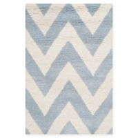 Safavieh Cambridge 2-Foot x 3-Foot Abby Wool Rug in Light Blue/Ivory