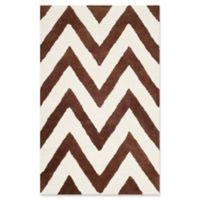 Safavieh Cambridge 2-Foot x 3-Foot Abby Wool Rug in Dark Brown/Ivory