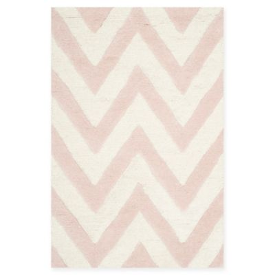Safavieh Cambridge 2 Foot X 3 Foot Abby Wool Rug In Light Pink/