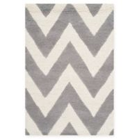 Safavieh Cambridge 2-Foot x 3-Foot Abby Wool Rug in Silver/Ivory
