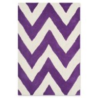 Safavieh Cambridge 2-Foot x 3-Foot Abby Wool Rug in Purple/Ivory
