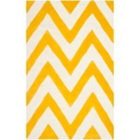 Safavieh Cambridge 2-Foot x 3-Foot Abby Wool Rug in Gold/Ivory