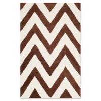 Safavieh Cambridge 2-Foot 6-Inch x 4-Foot Abby Wool Rug in Dark Brown/Ivory