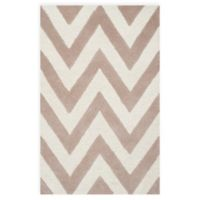 Safavieh Cambridge 2-Foot 6-Inch x 4-Foot Abby Wool Rug in Beige/Ivory