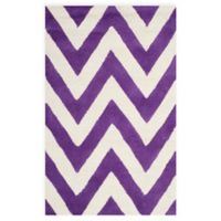 Safavieh Cambridge 2-Foot 6-Inch x 4-Foot Abby Wool Rug in Purple/Ivory