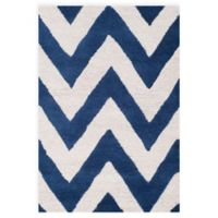 Safavieh Cambridge 2-Foot 6-Inch x 4-Foot Abby Wool Rug in Navy /Ivory