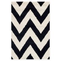 Safavieh Cambridge 2-Foot 6-Inch x 4-Foot Abby Wool Rug in Black/Ivory