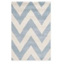 Safavieh Cambridge 2-Foot 6-Inch x 4-Foot Abby Wool Rug in Light Blue/Ivory