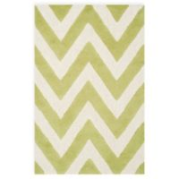 Safavieh Cambridge 2-Foot 6-Inch x 4-Foot Abby Wool Rug in Green/Ivory