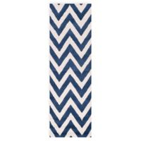 Safavieh Cambridge 2-Foot 6-Inch x 8-Foot Abby Wool Rug in Navy /Ivory