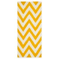 Safavieh Cambridge 2-Foot 6-Inch x 10-Foot Abby Wool Rug in Gold/Ivory