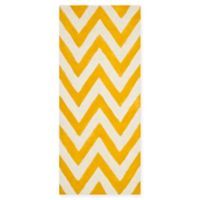 Safavieh Cambridge 2-Foot 6-Inch x 12-Foot Abby Wool Rug in Gold/Ivory