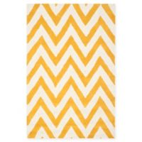 Safavieh Cambridge 3-Foot x 5-Foot Abby Wool Rug in Gold/Ivory