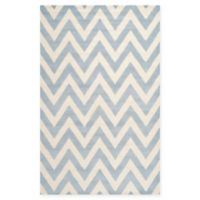 Safavieh Cambridge 3-Foot x 5-Foot Abby Wool Rug in Light Blue/Ivory