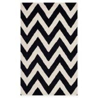Safavieh Cambridge 3-Foot x 5-Foot Abby Wool Rug in Black/Ivory