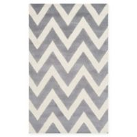 Safavieh Cambridge 3-Foot x 5-Foot Abby Wool Rug in Silver/Ivory