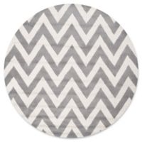 Safavieh Cambridge 4-Foot x 4-Foot Abby Wool Rug in Silver/Ivory