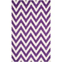 Safavieh Cambridge 5-Foot x 8-Foot Abby Wool Rug in Purple/Ivory