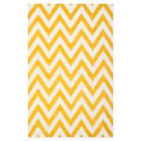 Safavieh Cambridge 5-Foot x 8-Foot Abby Wool Rug in Gold/Ivory