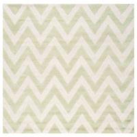 Safavieh Cambridge 6-Foot x 6-Foot Abby Wool Rug in Light Green/Ivory