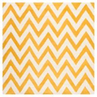 Safavieh Cambridge 6-Foot x 6-Foot Abby Wool Rug in Gold/Ivory
