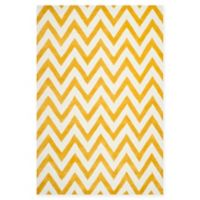 Safavieh Cambridge 6-Foot x 9-Foot Abby Wool Rug in Gold/Ivory